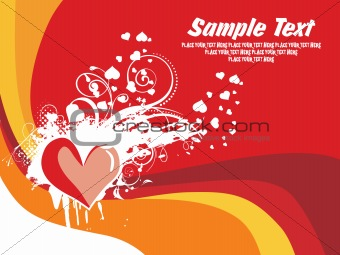 abstract valentine banner, card illustration