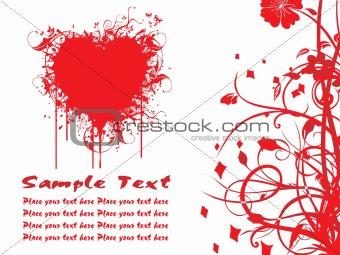 a beautiful heart-shape illustration card