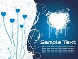 blue heart-shape valentine text