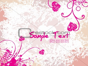 abstract pink valentine banner illustration