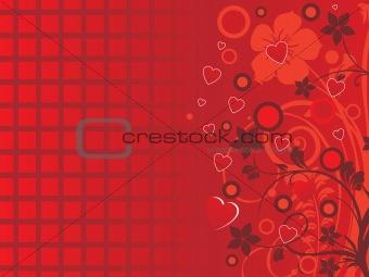 abstract flower design frame