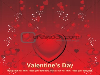 abstract valentine card for love
