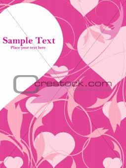 abstract pink flower illustration