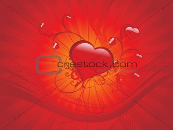 abstract background with love