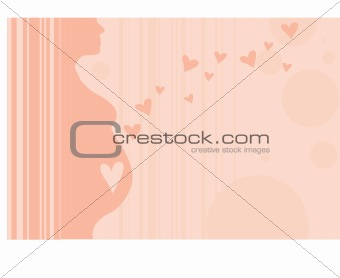 Pregnant Woman Silhouette Pink