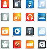 music icon buttons