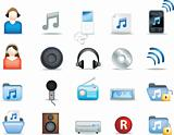 detailed music icons