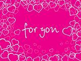 pink love background illustration