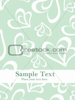 green background with love vector