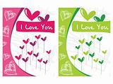 beautiful design pair of heart