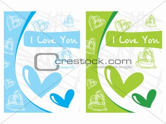 pair of heart-shape card