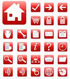 red website and internet icon