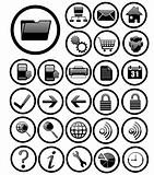 website icons black rotundity