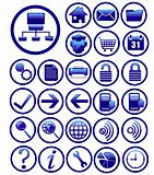 website icons duck blue rotundity