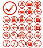 website icons red rotundity
