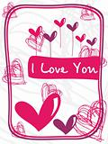 funny design romantic love card