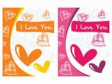 beautyful design two love cards