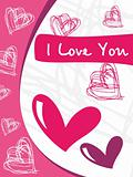 abstract design vetor love card