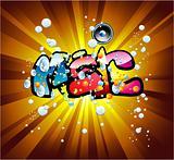 Music graffiti background
