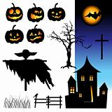 Halloween night, elements for your design