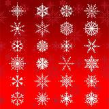 Set of 24 beautiful snowflakes