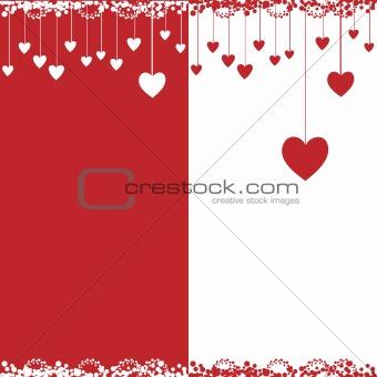 Valentine card, vector illustration