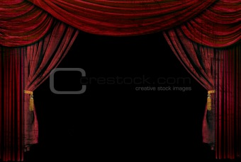 Old fashioned, elegant theater stage drapes