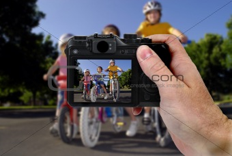 Camera Picture of Girls Riding Bikes