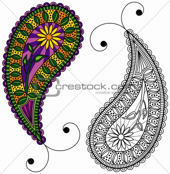 Paisley - Colorful or Black and White