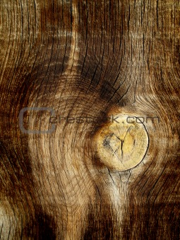 Olld Wood with Knot
