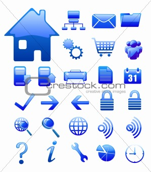blue  website and internet icon