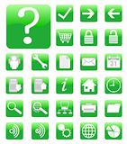 green website and internet icon