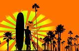 Grungy surf background