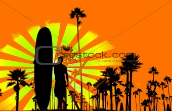 Grungy surf background