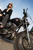 Motorcycle girl angle