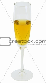 Goblet with white wine