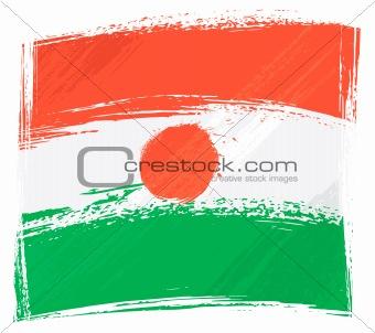 Grunge Niger flag