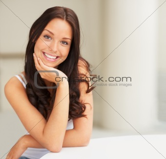 Portrait of a smiling beautiful young lady