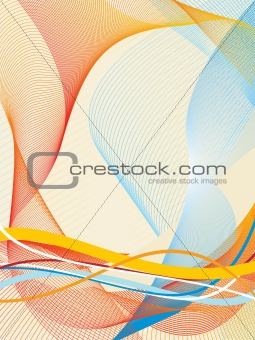 abstract fancy wave vector, design43
