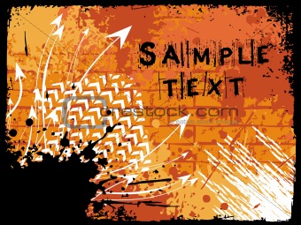 abstract grunge with arrows, vector design12
