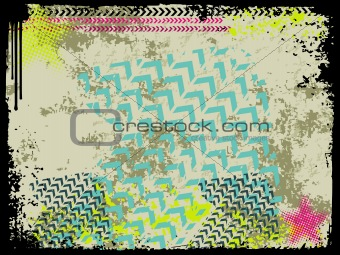 abstract grunge with arrows, vector design21
