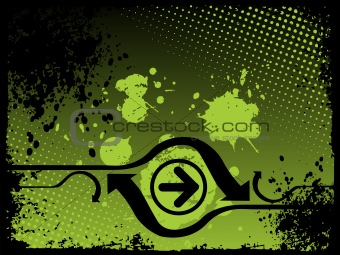 abstract grunge with arrows, vector design33