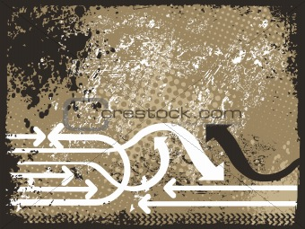 abstract grunge with arrows, vector design34
