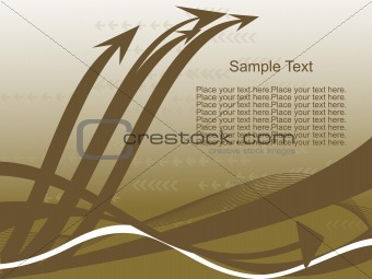 background with arrow, hightech vector10