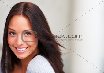 Portrail of a smiling and attractive young women
