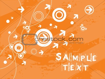 background with arrow, hightech vector36