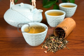 Flavored green tea