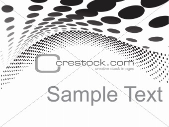black vector wave halftone isolated on white