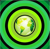 Glossy Green World Background