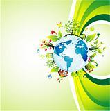 Think green background